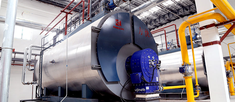 Split condensate gas steam boiler